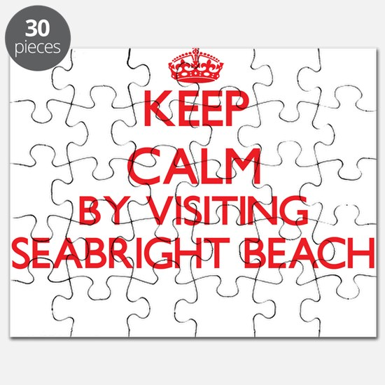 Keep calm by visiting Seabright Beach Calif Puzzle