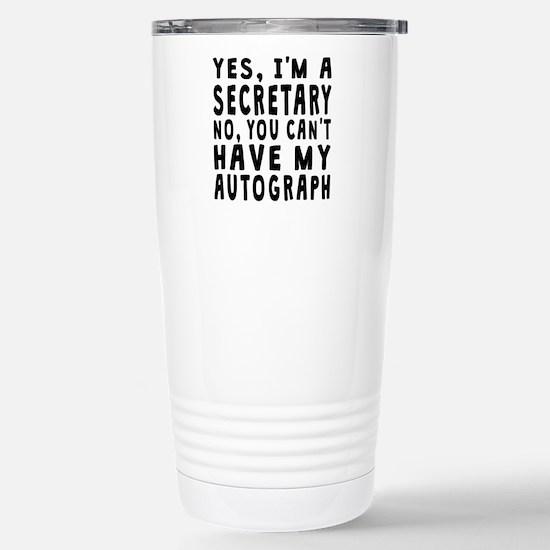 Secretary Autograph Travel Mug