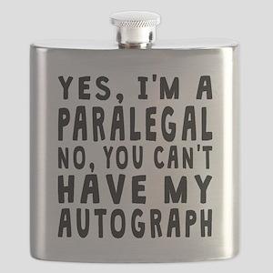 Paralegal Autograph Flask