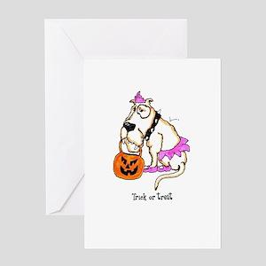 Trick or Treat Dog Greeting Card