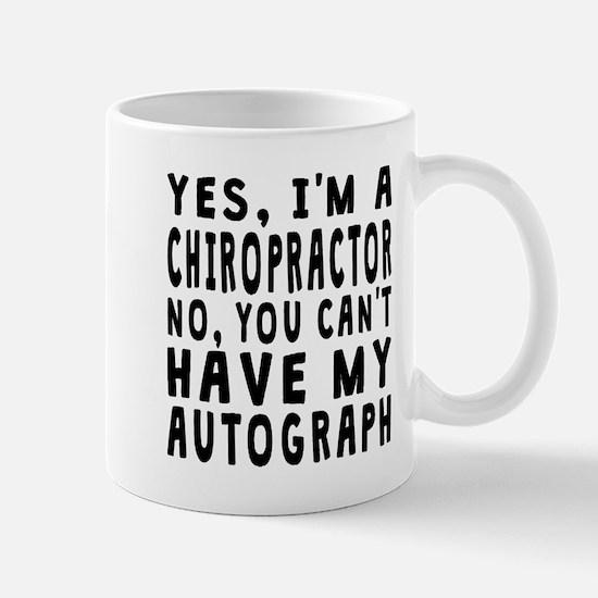 Chiropractor Autograph Mugs