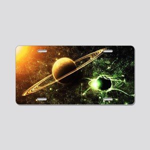 Planetary Ring System Aluminum License Plate