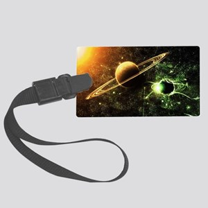 Planetary Ring System Large Luggage Tag