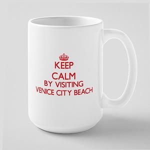 Keep calm by visiting Venice City Beach Calif Mugs