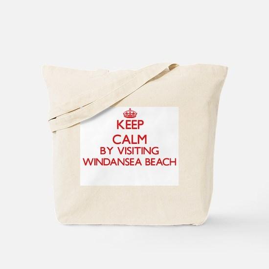 Keep calm by visiting Windansea Beach Cal Tote Bag