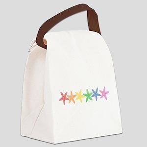 Rainbow Starfish Canvas Lunch Bag