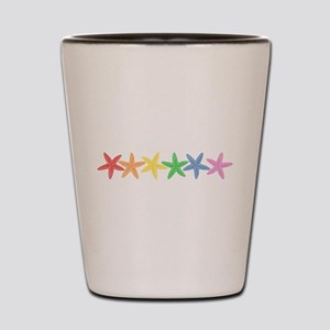 Rainbow Starfish Shot Glass