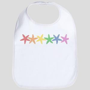 Rainbow Starfish Bib