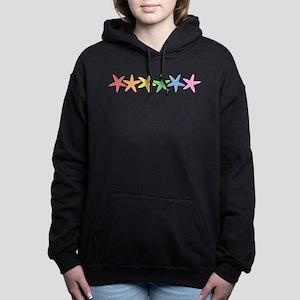 Rainbow Starfish Women's Hooded Sweatshirt