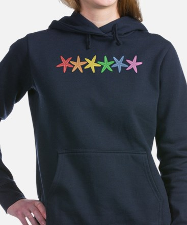 Rainbow Starfish Women's Hooded Sweatshirt