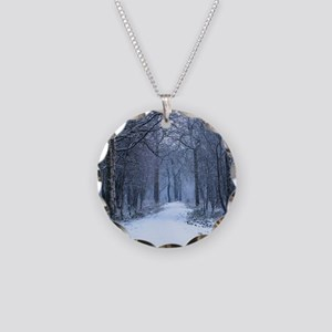 Scottish Bluebell Woods in Winter Necklace Circle
