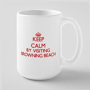 Keep calm by visiting Browning Beach Rhode Is Mugs