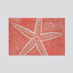 Coral Pink Starfish Magnets