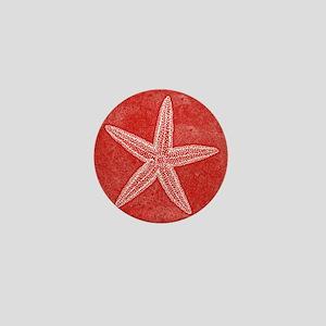 Coral Pink Starfish Mini Button