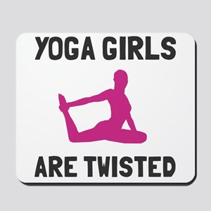 Yoga girls are twisted Mousepad