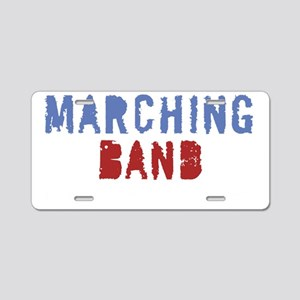 Marching band pain for blac Aluminum License Plate
