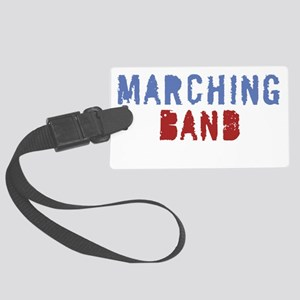Marching band pain for black Large Luggage Tag