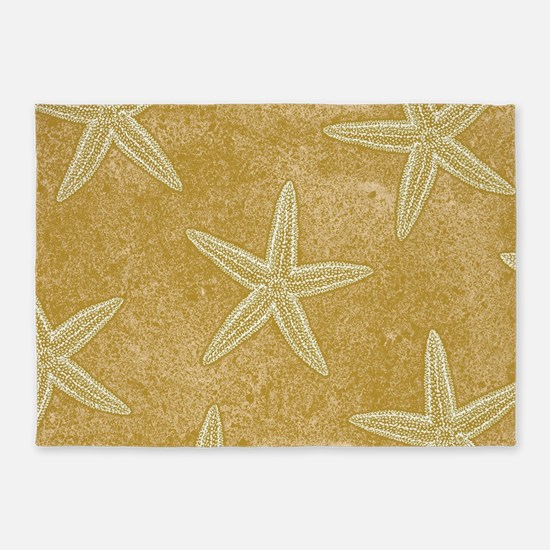 Sand Starfish 5'x7'Area Rug