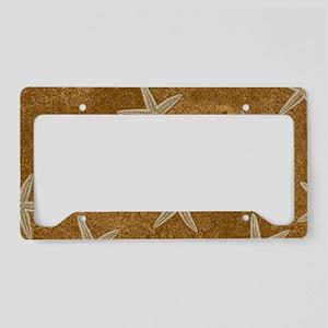 Sand Starfish License Plate Holder