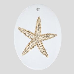 Sand Starfish Ornament (Oval)