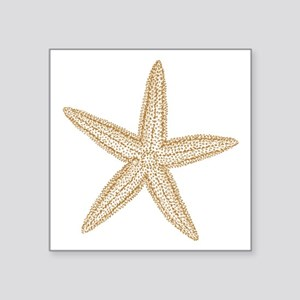 "Sand Starfish Square Sticker 3"" x 3"""