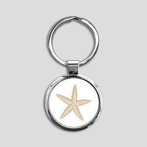 Sand Starfish Round Keychain