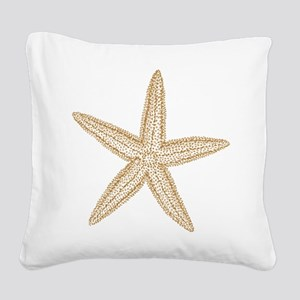 Sand Starfish Square Canvas Pillow