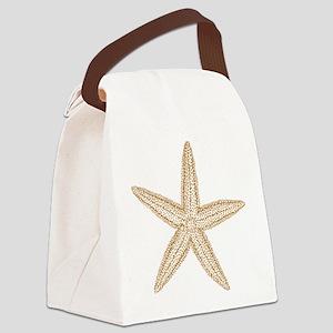 Sand Starfish Canvas Lunch Bag