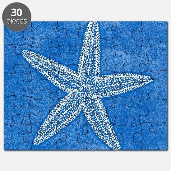 Aqua Blue Starfish Puzzle