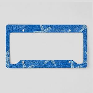 Aqua Blue Starfish License Plate Holder