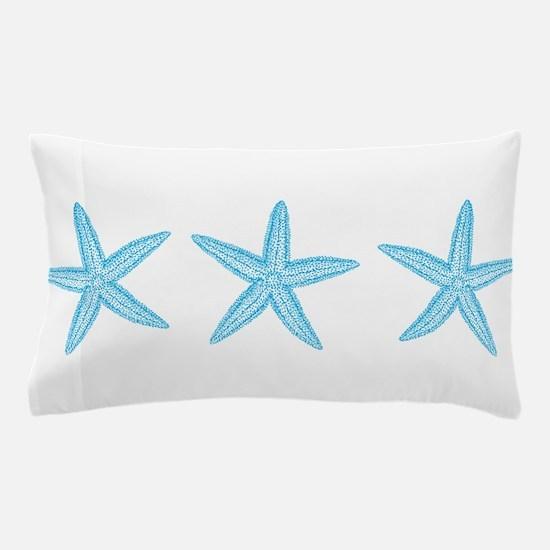 Aqua Blue Starfish Pillow Case