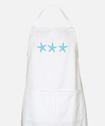 Aqua Blue Starfish Apron