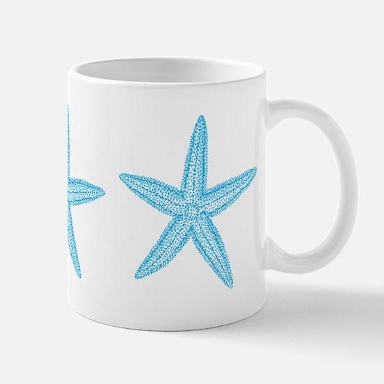 Aqua Blue Starfish Mug