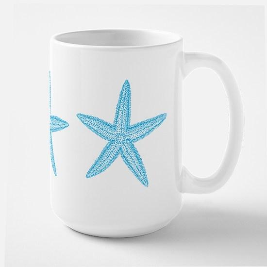 Aqua Blue Starfish Large Mug