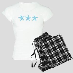 Aqua Blue Starfish Women's Light Pajamas
