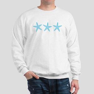 Aqua Blue Starfish Sweatshirt