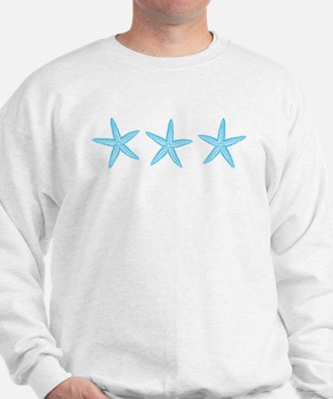 Aqua Blue Starfish Sweatshirt