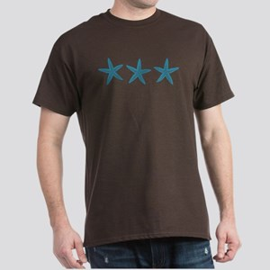 Aqua Blue Starfish Dark T-Shirt