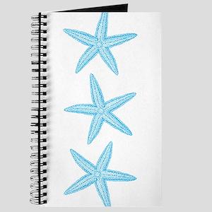 Aqua Blue Starfish Journal