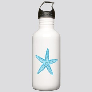 Aqua Blue Starfish Stainless Water Bottle 1.0L