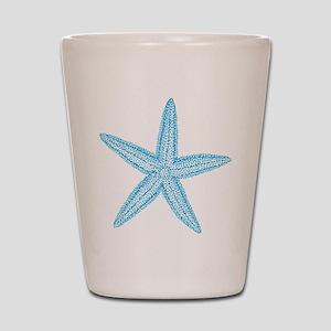 Aqua Blue Starfish Shot Glass