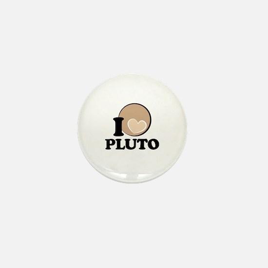 I Heart/Love PLUTO! Mini Button