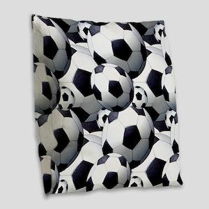 Soccer Fan Burlap Throw Pillow