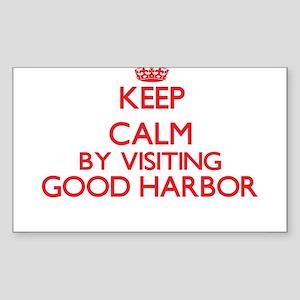 Keep calm by visiting Good Harbor Massachu Sticker