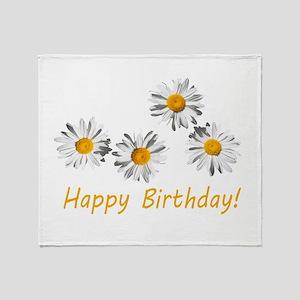 four lovely white daisy flowers happy birthday pho