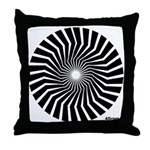 Retro Mod Spiral Throw Pillow