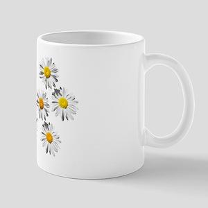 lovely eight daisy flowers photo art. Mugs