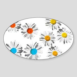 lovely eight daisy flowers photo art. Sticker