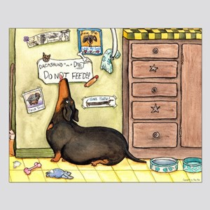Weighty Weiner Dog Small Poster