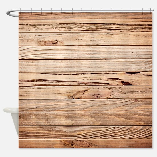 western country barn wood Shower Curtain